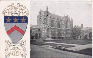 KEBLE College, Coat of Arms, OXFORD, Oxfordshire, England, United Kingdom, 00...