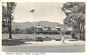North Conway NH Railroad Station Train Depot RP Postcard