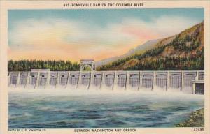 Bonneville Dam On The Columbia River Between Washington And Oregon Seattle Wa...