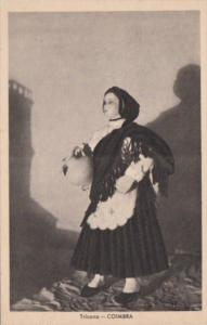 Portugal Coimbra Tricana  Local In  Traditional Costume Exposition De Paris 1937