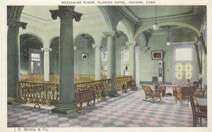 HAVANA, Cuba, 1910-20s; Mezzanine Floor, Florida Hotel