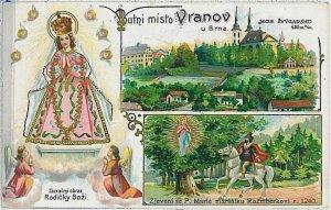 VINTAGE POSTCARD:  CZECH REPUBLIC -  Wranau Vranov u Brna  1917