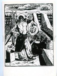 153697 Brazil GOLD miners by Bianshetti Old postcard
