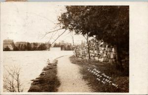 Elkhart Lake Wisconsin~Pine Point~Rocky Wall Guards Path~Dandy Time~1908 RPPC