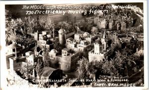 RPPC VANCOUVER? BC, Canada   GANCI BROS MODEL City of NAZARETH  c1940s  Postcard
