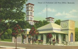 bermuda, House of Parliament and Post Office (1940s)