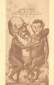 Limited Edition Postcard Darwin, This is the Ape of Form, Loves labor Lost #765