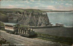 Dunluce Castle Co. Antrim Rail Car Trolley c1910 Postcard