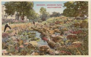 SOUTHAMPTON, Hampshire, England, 1900-1910's; Rockery , Andrews Park