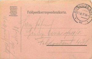 Entier Postal Stationery Postal Feldpost 431 Sternberg