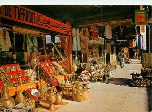 Morocco Agadir artisanat artisan work postcard
