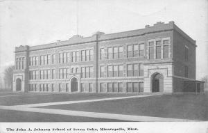Minneapolis MN~Johnson Elementary~Seven Oaks~3100 38th Ave S~Razed~1910 B&W PC
