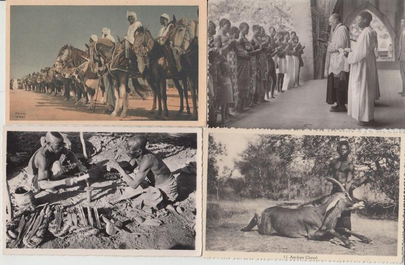 CHAD TCHAD A.E.F. ETHNIC TYPES AFRICA AFRIQUE WITH BETTER 35 CPA (pre-1940)