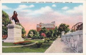 Tennessee Nashville Jackson monument Capitol Grounds 1948