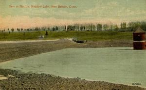 CT - New Britain. Meadow Lake, Dam at Shuttle