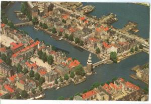 Netherlands, Amsterdam, Luchtopname, 1973 used Postcard