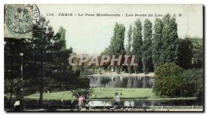Paris (14) - The Park Montsouris- The edges of the Lake Post Card Old