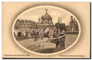 Exhibition of Brussels Brussels, Belgium and Belgium-1910- Entry of the Bruss...