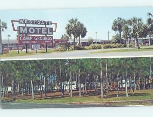 Pre-1980 MOTEL SCENE Perry Florida FL AD8907