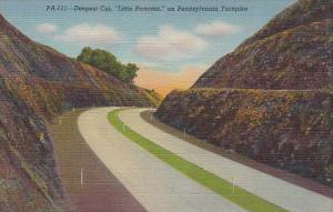 Pennsylvania Turnpike Deepest Cut Little Panama Curteich