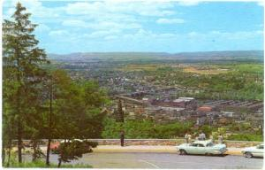 View from Lookout Atop South Mountain, Bethlehem, Pennsylvania, PA, Chrome
