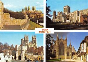 Postcard York Minster, North Yorkshire, Multi View by Judges O13