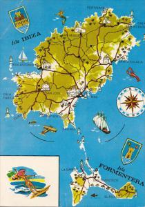 Spain Mapa De Ibizia Y Formentera