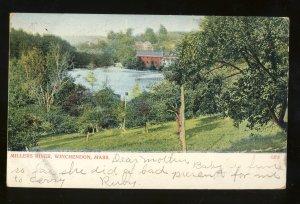 Winchendon, Massachusetts/Mass/MA Postcard, Millers River, 1915!