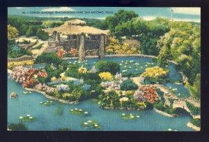 San Antonio, Texas/TX  Postcard, Sunken Gardens, Brackenridge Park, 1952!