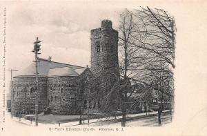 St. Paul's Episcopal Church, Paterson, New Jersey, Early Postcard, Unused