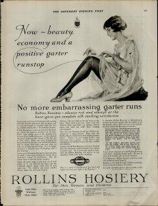 1924 Rollins Hosiery For Men Women and Children Vintage Print Ad 3940