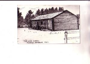 Photograph of Sketch, Log Cabin, Murray Harbour, Prince Edward Island,