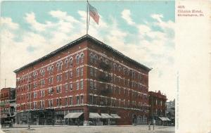 Bloomington Illinois~Illinois Hotel~1906 Postcard
