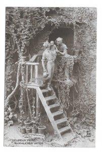 Happy Father Glucklicher Vater Pere Sculptor D Mastroianni A Noyer 1913 Postcard