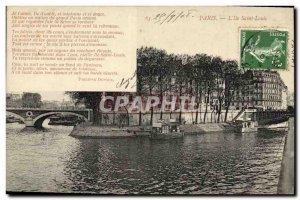 Old Postcard Paris L iie St. Louis
