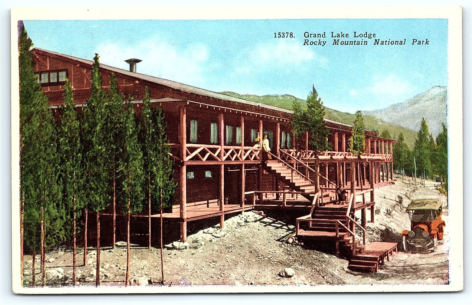 Postcard co rocky mountain national park grand lake lodge for Rocky mountain lodges