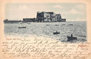 Napoli Naples Italy Castel dell'Ovo Castle Vintage Postcard JE229689