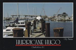 Hurricane HUGO Damage to yacht basin , Charleston , South Carolina , 1989