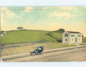 Divided-Back GATEHOUSE ON COBBS HILL RESERVOIR Rochester New York NY d2065