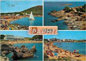 Modern Postcard Costa Brava Escala Playas