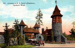 Washington Spokane Entrance To R B Porter's Residence