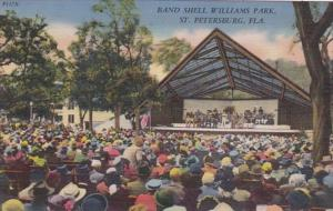 Florida St Petersburg Band Shell Williams Park 1954