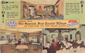 Old Spanish Fort Tourist Village Mobile Alabama 1955 postcard