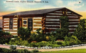 North Dakota Bismarck Capitol Grounds Roosevelt Cabin
