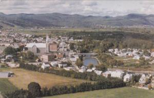 Aerial View, Baie St. Paul, Cte Charlevoix, Quebec, Canada, PU-1986