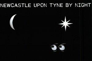 NEW Postcard, Newcastle Upon Tyne by Night, Humor, Novelty, Fun, Funny EO4