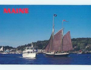 Unused 1980's OLD AND NEW BOAT TOGETHER Boothbay Harbor Maine ME hn3347-19
