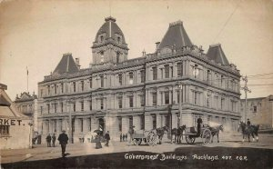 RPPC Government Buildings Auckland New Zealand c1910s Radcliffe Vintage Postcard