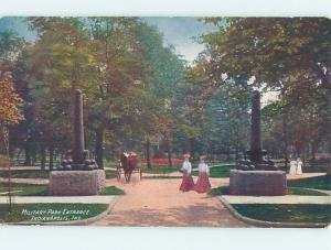 Unused Divided-Back PARK SCENE Indianapolis Indiana IN hk8871