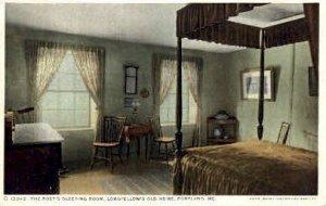The Poet's Sleeping Room, Longfellow's Old Home in Portland, Maine